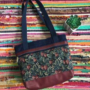 Vintage ~ My Maine Bag floral tapestry purse
